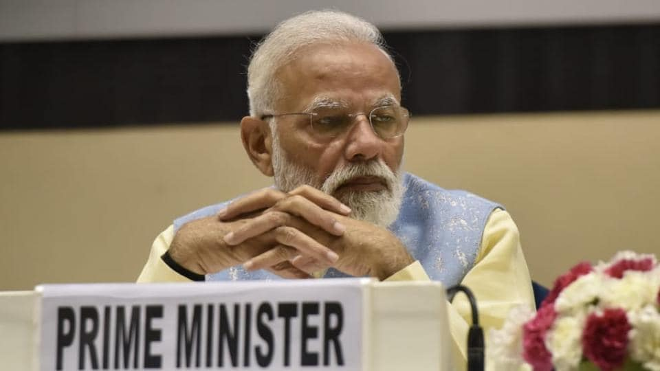 Prime Minister Narendra Modi at a function in New Delhi's Vigyan Bhawan on Wednesday.