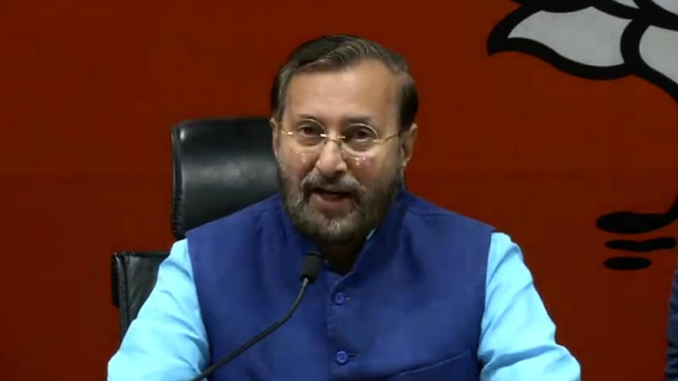 Union HRD minister Prakash Javadekar said the opposition's criticism of the government  sent a wrong message.