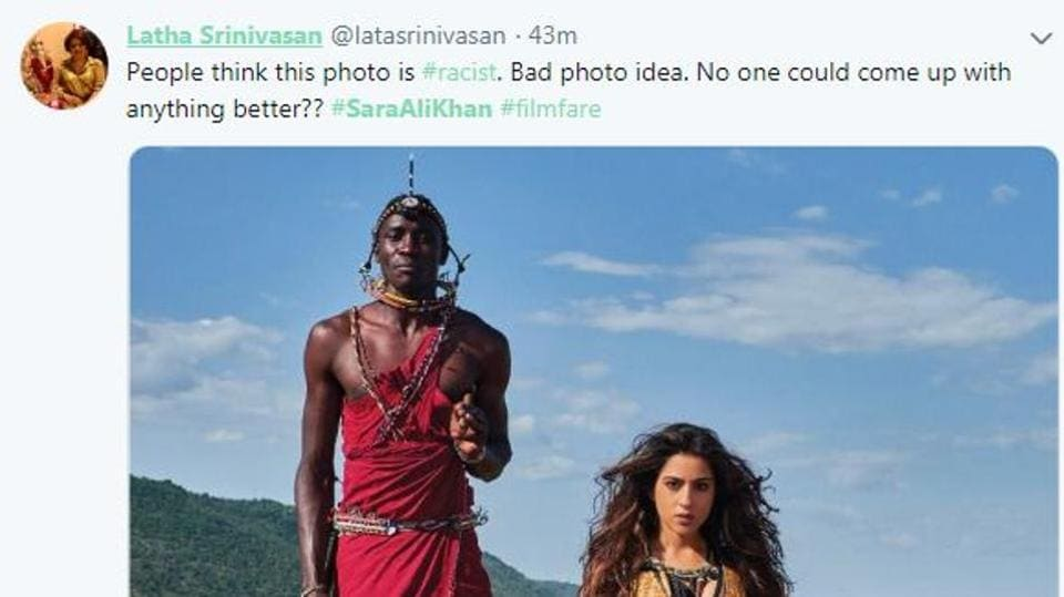 Sara Ali Khan's latest photoshoot with Masai tribesmen has invited controversy.