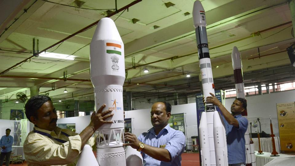 In a special mission in March, the Indian space agency will launch an electronic intelligence satellite Emisat for the DRDO. (Photo by Ravindra Joshi/HT PHOTO)