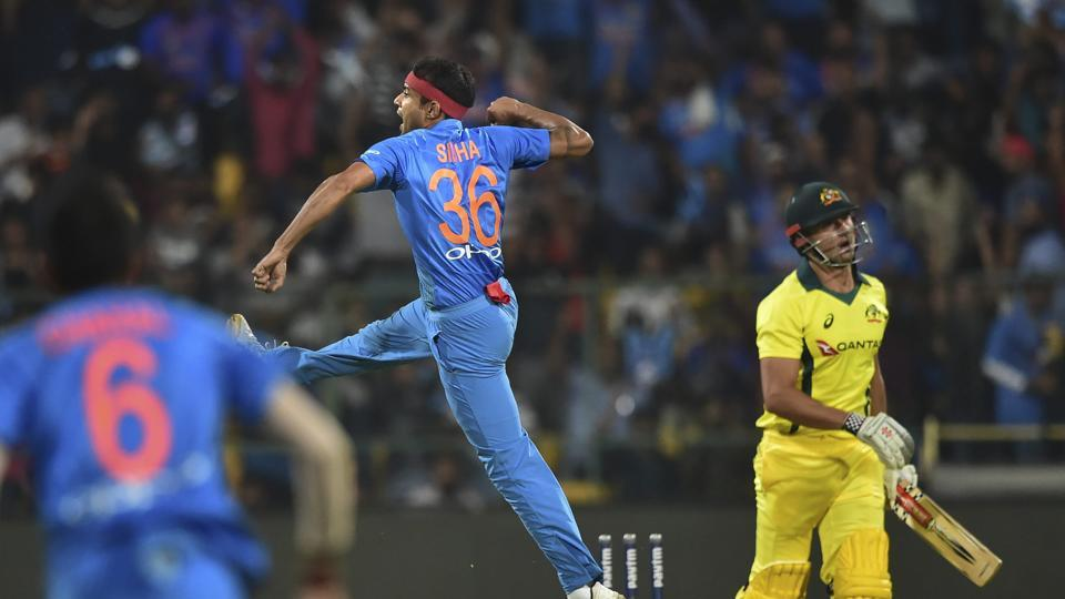 Siddarth Kaul got the early wicket of Marcus Stoinis as India controlled the powerplay (PTI)