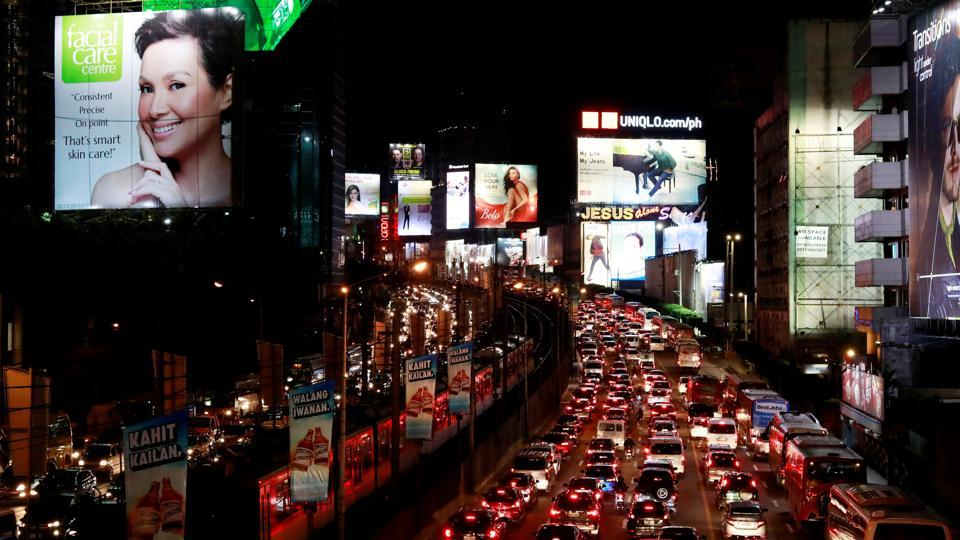 Metro Manila, a sprawl of 16 cities fused together by outdated infrastructure, is creaking under the weight of millions of vehicles, owing largely to economic growth of more than 6% a year since 2012. Urban rail coverage is limited, trains are prone to breakdowns and queues spill onto streets where exhaust fumes are intoxicating. (Eloisa Lopez / REUTERS)