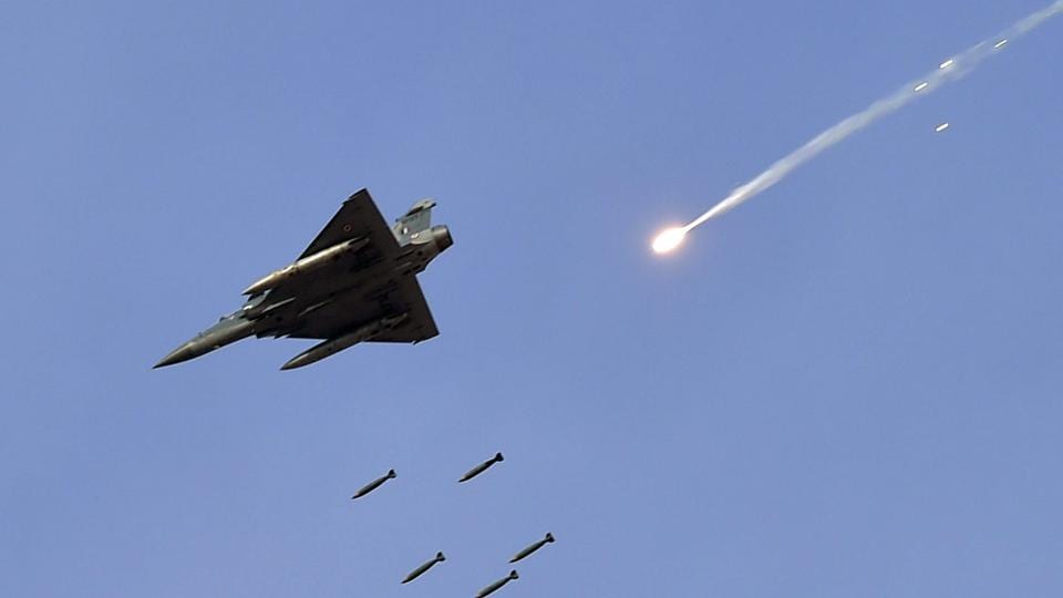 File picture a Mirage 2000 fighter jet releases bombs during the IAF exercise named