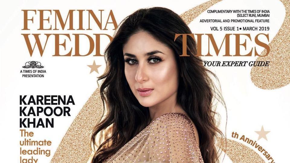 Kareena Kapoor is on the cover Femina Wedding Times.