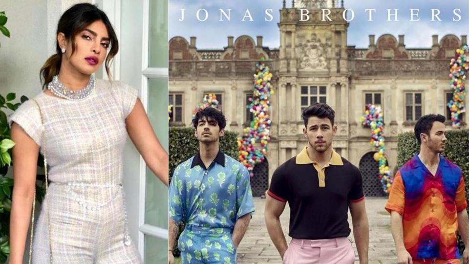 Nick Jonas announced the return of the Jonas brothers and Priyanka cheered the trio on Instagram.