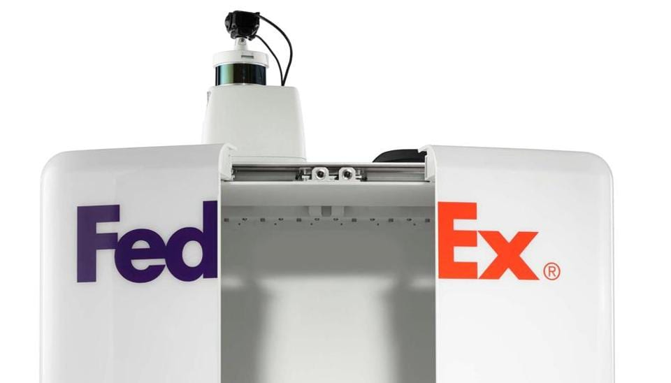 A FedEx SameDay bot, which will be tested this summer by FedEx and partners such as Pizza Hut, Target and Walmart for same-day delivery in some cities including Memphis, Tennesse, US