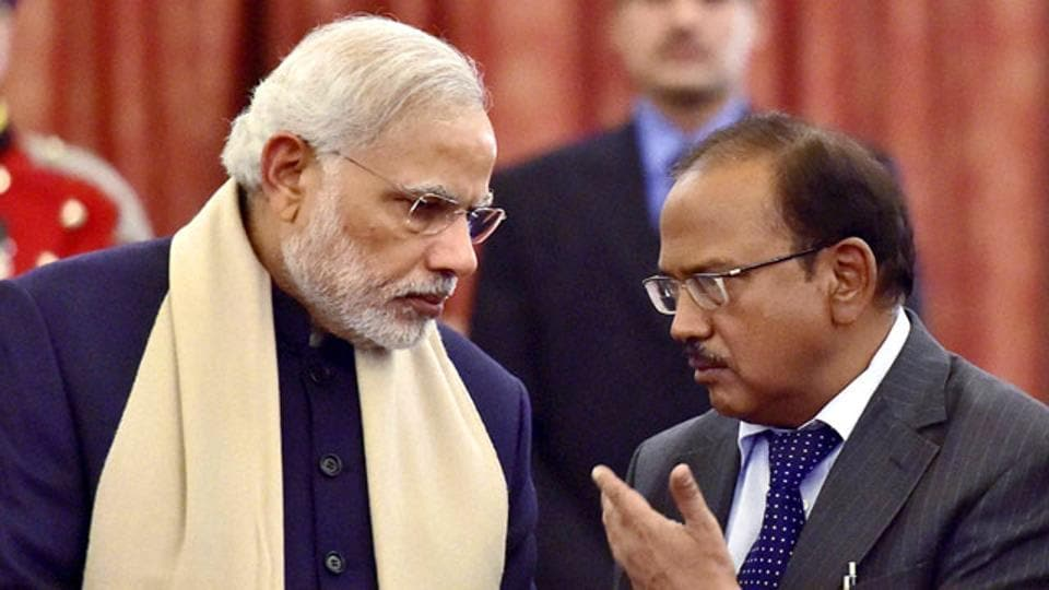 Prime Minister NarendraModi and National Security Advisor Ajit Doval (right), worked with intelligence and military chiefs to execute the strikes