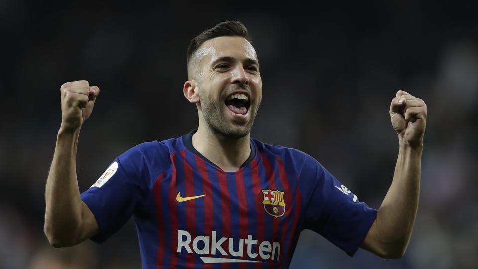 Barcelona defender Jordi Alba.