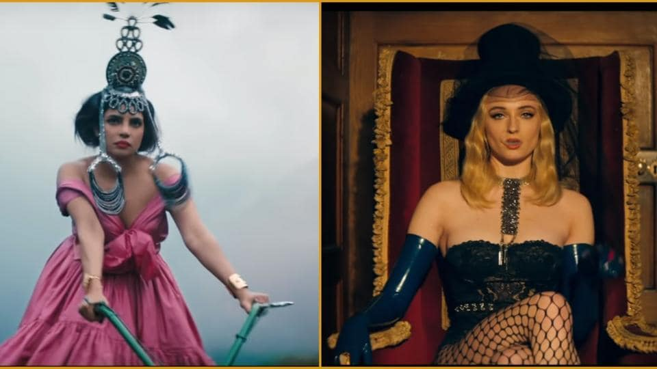 Sophie Turner, Priyanka Chopra take us back in time with their classic-era fashion in Sucker video.