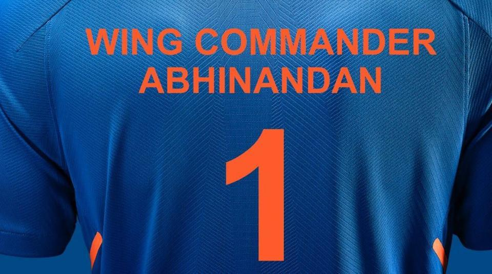 The BCCI on Friday put out a picture of the Indian Team's jersey bearing IAF Wing Commander Abhinandan Varthaman's name and number 1 on it as a tribute after his return to the country from Pakistan.