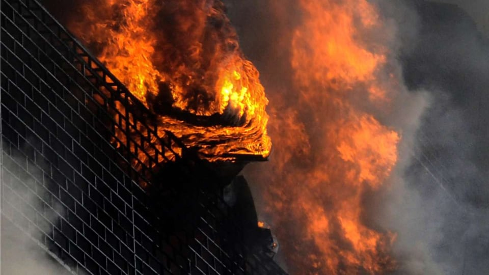 The blaze was reported at around 8.10 a.m. in the Chitpur area