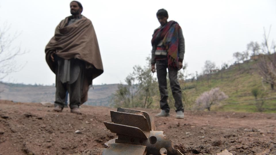 A woman and her two minor children, one of them nine months old, were killed while her husband was critically injured after a Pakistani mortar shell hit their house along the Line of Control in Jhullas area of Poonch district late Friday night. Shelling by Pakistani intensified shortly after Indian Air Force pilot Abhinandan Varthaman was repatriated through the Wagah border following two days of captivity. (Sajjad Hussain / AFP)