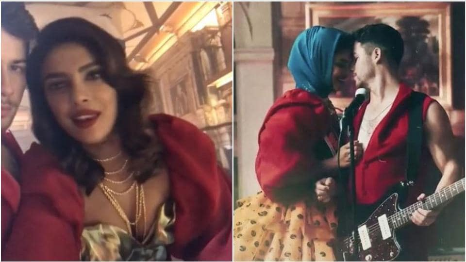 Priyanka Chopra features in Jonas Brothers' video for Sucker.