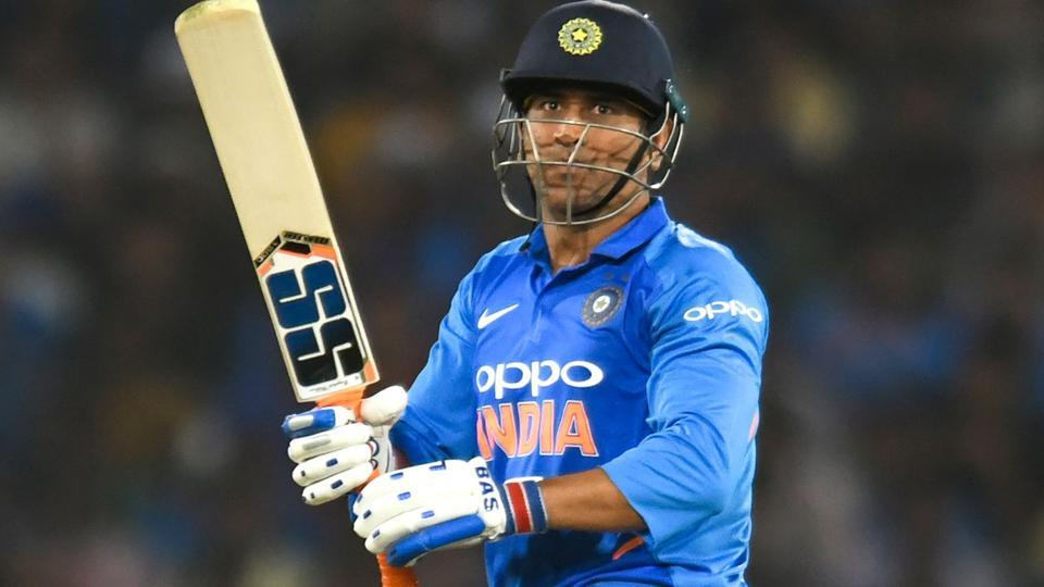 MS Dhoni plays a shot during the first one day international (ODI) cricket match between India and Australia.