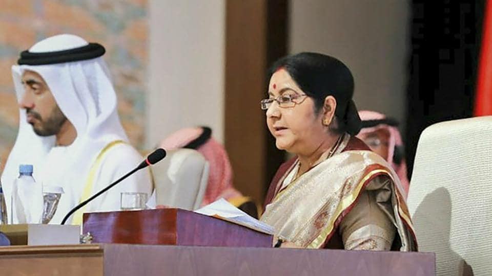 External affairs minister Sushma Swaraj addressed the inaugural session of the meeting on Friday as a guest of honour and made a thinly veiled attack on Pakistan-backed terrorism