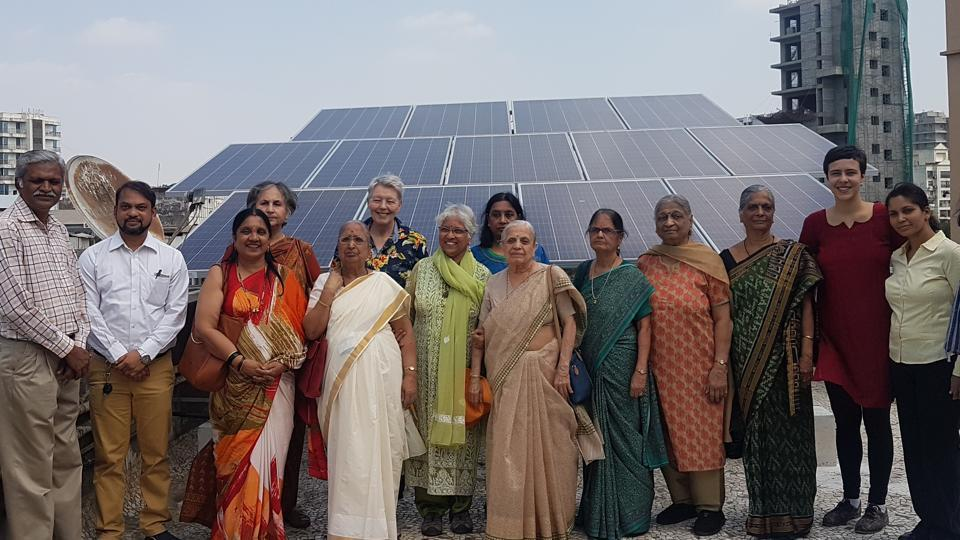 Kesarbai Bhimani Working Women's Hostel in Juhu has an 8.5-kW solar power plant installed on its rooftop.