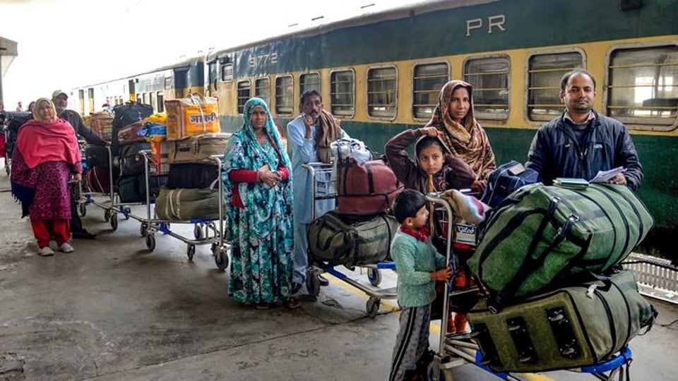 The Samjhauta Express  train departs on Monday and Thursday from Lahore.