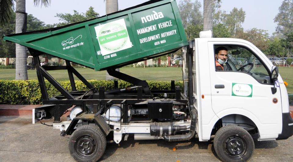 noida,waste pickup,garbage collection