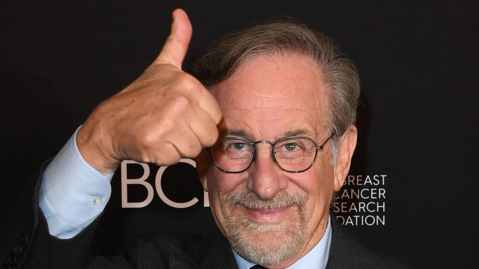 Filmmaker director Steven Spielberg arrives for an event.
