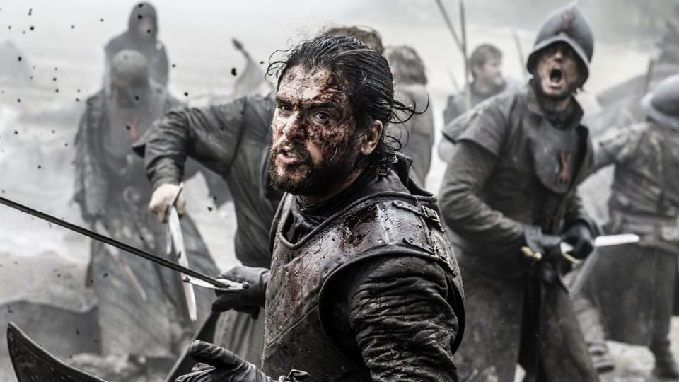 Jon Snow in a still from Game of Thrones.