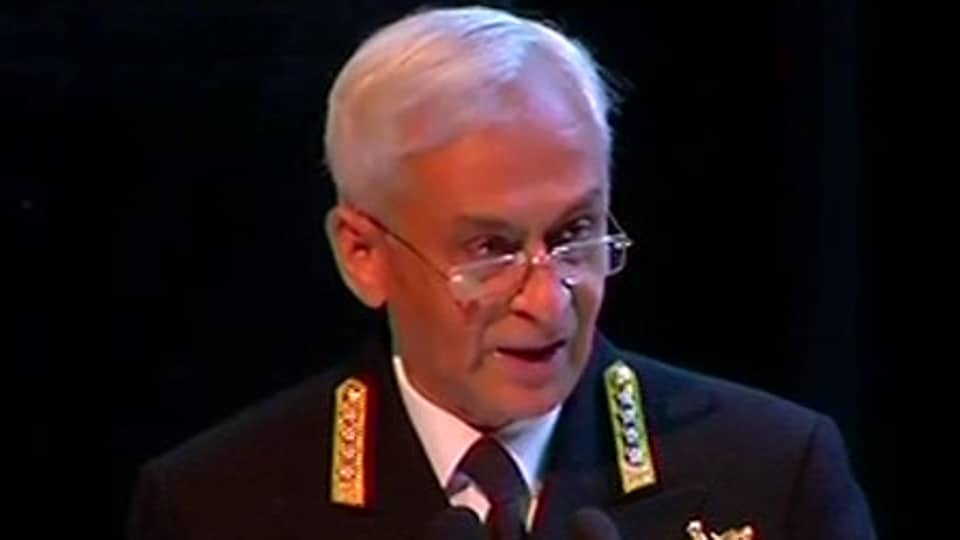 Indian Navy chief Admiral Anil Lanba at the Indo-Pacific Regional Dialogue in New Delhi on Tuesday.