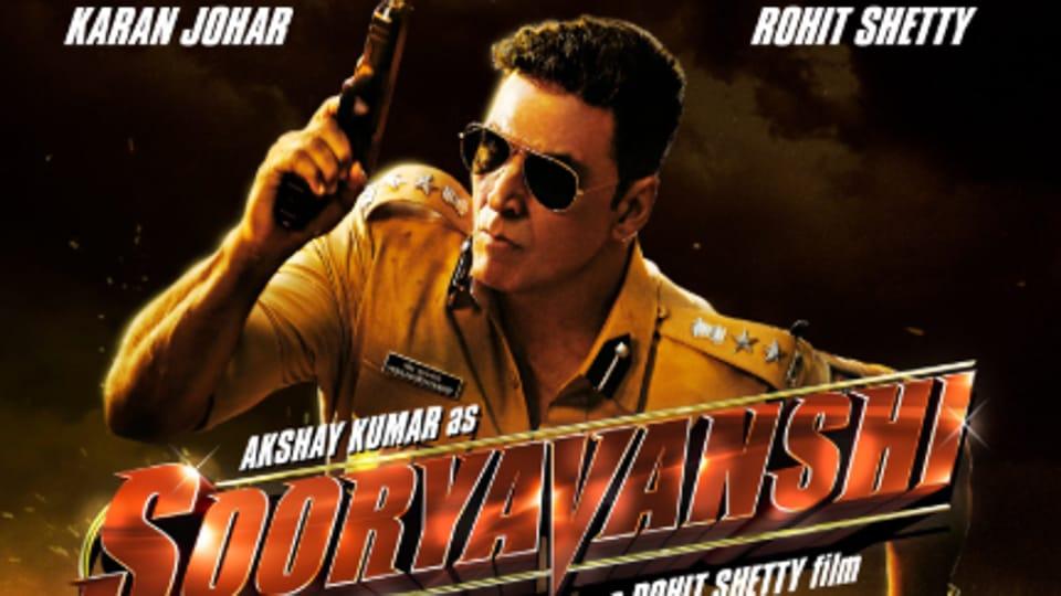 Sooryavanshi first look posters show Akshay Kumar as ATS chief Veer Sooryavanshi.
