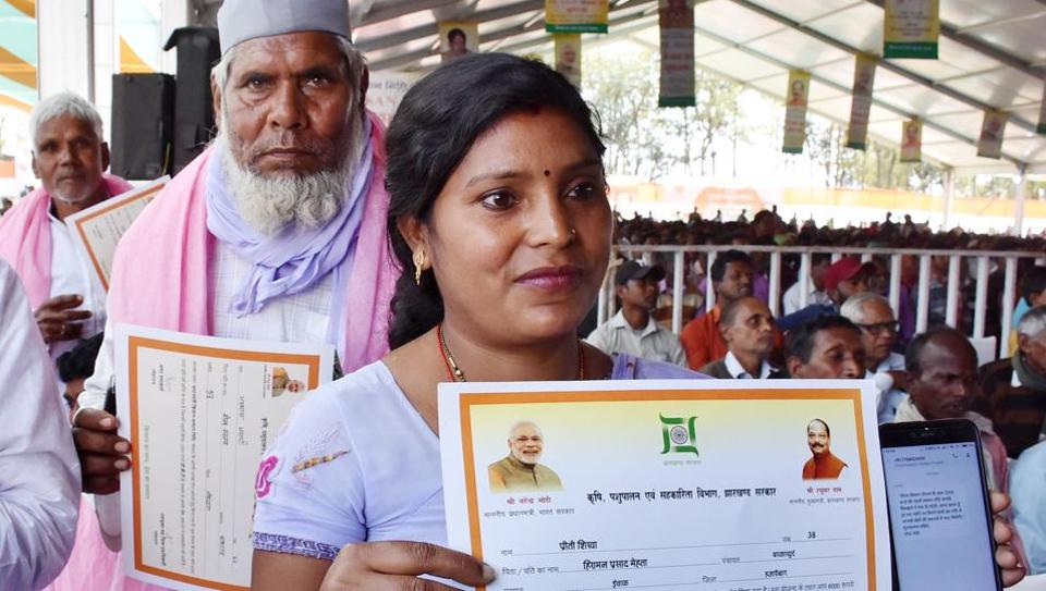 Beneficiaries of Pradhan Mantri Kisan Samman Nidhi. The scheme, backed by hefty budgetary allocation, envisages an annual transfer of Rs 6000 to all the small farmers with land holding less than two hectares