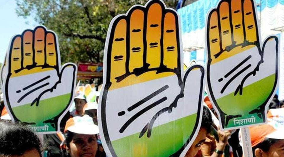 Supporters carry cutouts of the Congress party symbol during an election roadshow in Mumbai. Image for representation.
