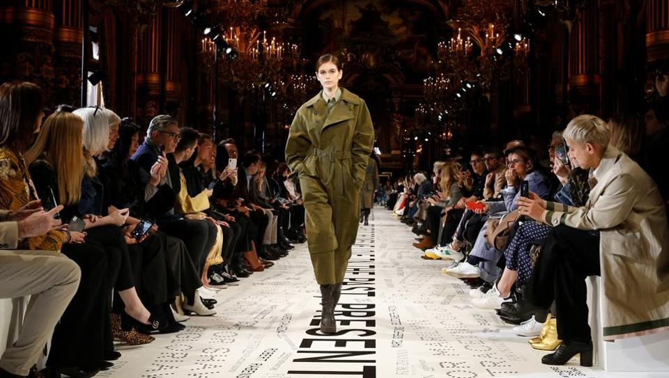 ffe9c37660bc Upcycled  fashion and Oprah star at Stella McCartney catwalk ...