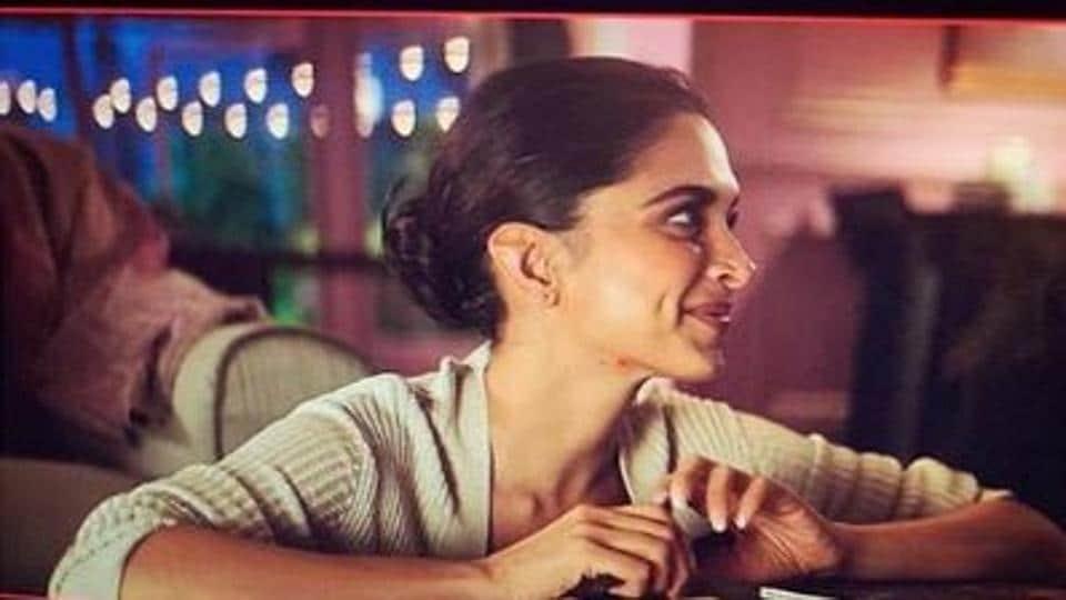 Deepika Padukone seen in a simple look on set.