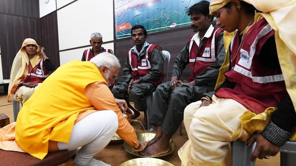On February 24, PM Modi had interacted with sanitation workers, who ensured cleanliness during the religious gathering, after taking a holy dip at the confluence of Ganga, Yamuna, and Saraswati during the Kumbh Mela at Prayagraj.