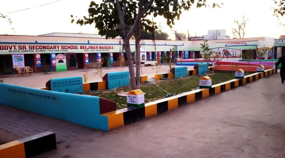 The transformed look of Beejwar Naruka government school