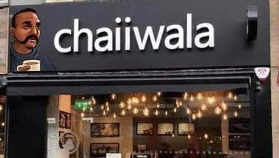 IAF pilot Abhinandan,Chaiiwala,photoshopped