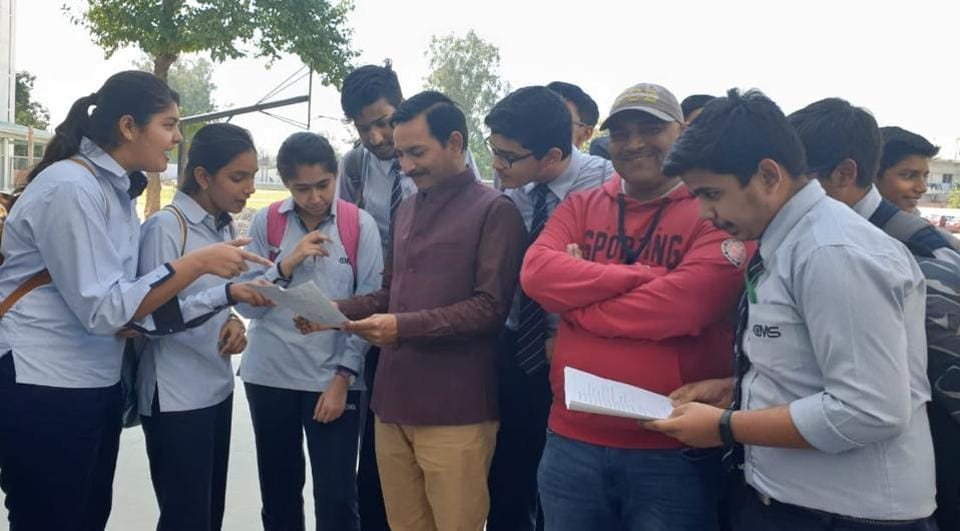 ICSE Boards 2019: Students of City Montessori Inter College, Aliganj, Lucknow, on Friday