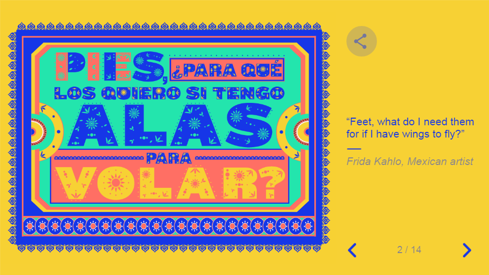 Google doodle featuring Frida Kahlo's quote in IWD 2019.