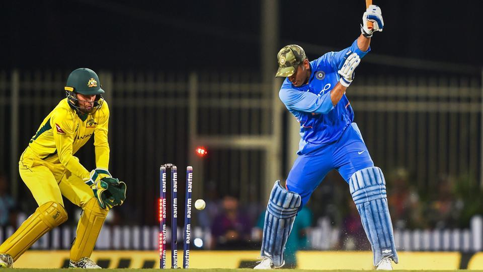 MS Dhoni is bowled out by Adam Zampa.  (PTI)
