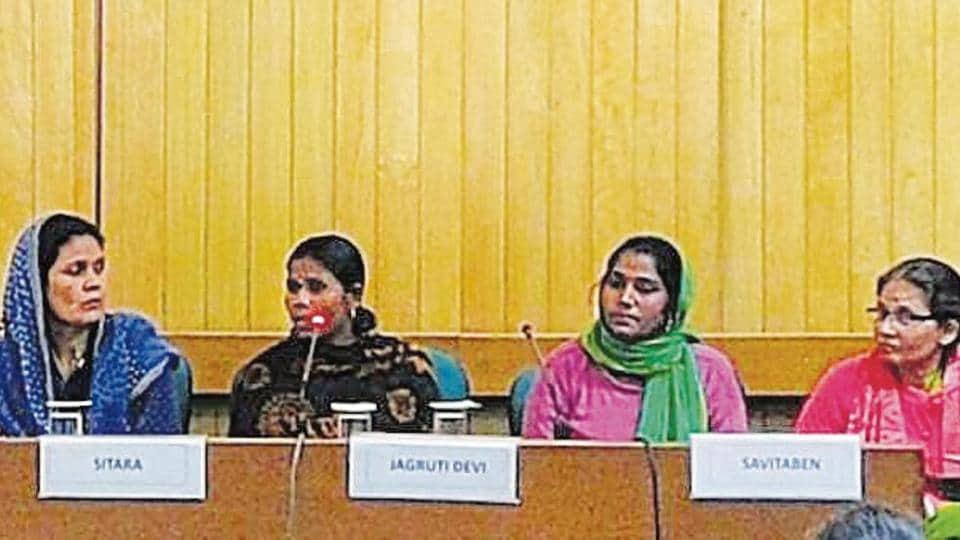 Some of the women speak at India Habitat Centre.