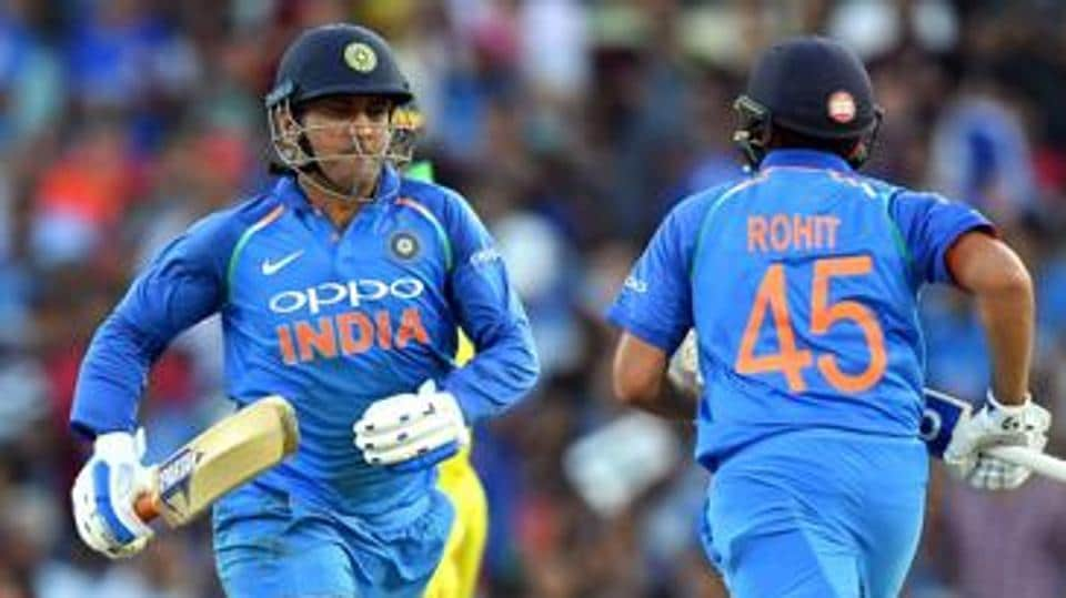 File image of India cricketers MS Dhoni and Rohit Sharma.