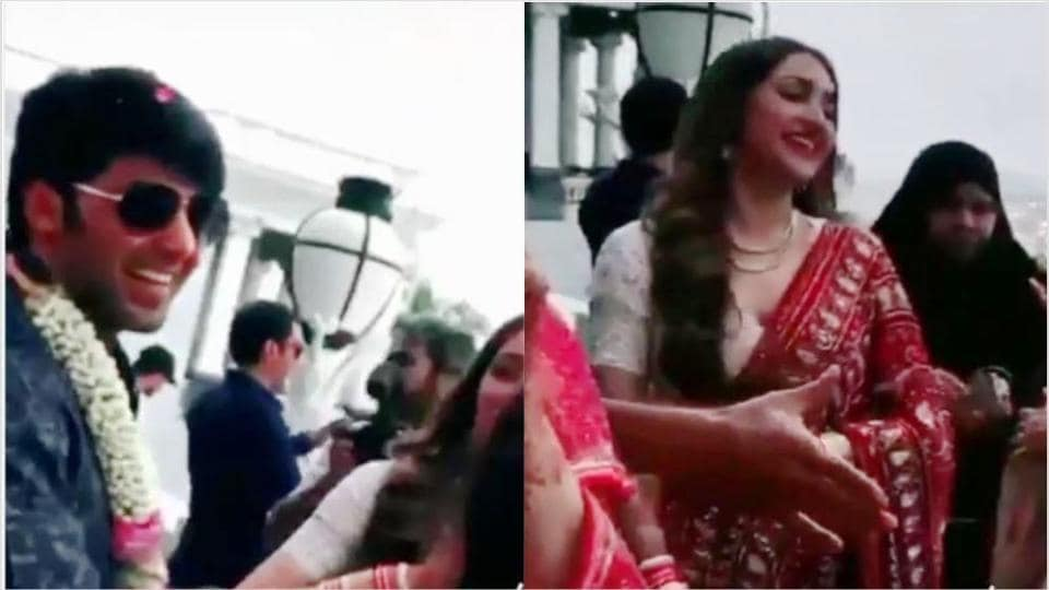 Sayyeshaa and Arya got married in Hyderabad on March 10.