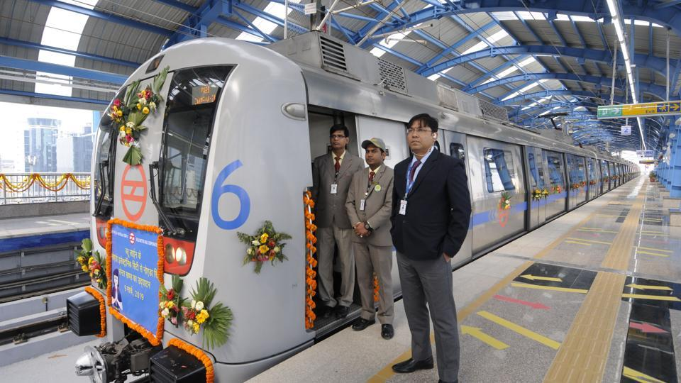 Prime Minister Narendra Modi inaugurated the Delhi Metro Blue line's 6.6km Noida City Centre to Electronic City Metro link on Saturday and laid foundation stones for two thermal power plants.