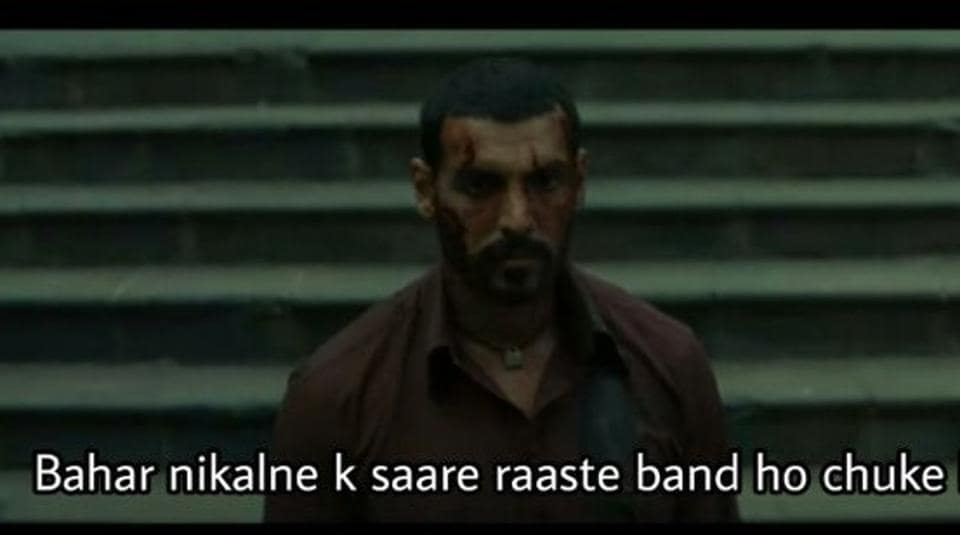 This John Abraham dialogue in Romeo Akbar Walter  is now a meme.
