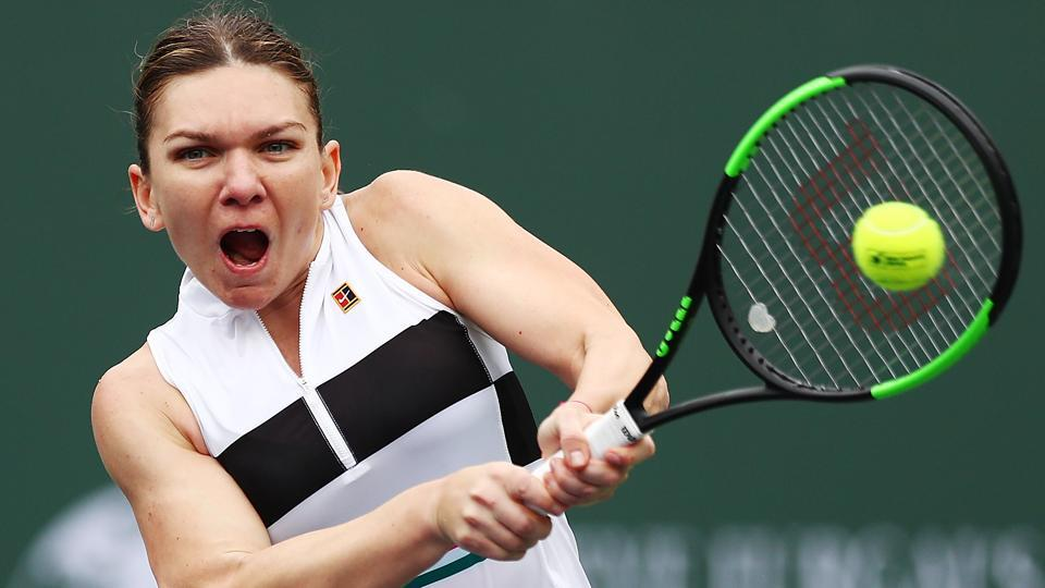 Halep wins, Stephens ousted in 2nd round at Indian Wells