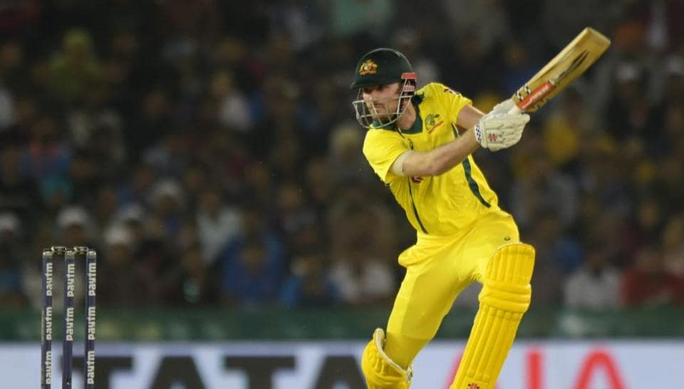 Mohali: Ashton Turner of Australia plays a shot during the 4th ODI cricket match between India and Australia in Mohali on Sunday, March 10, 2019