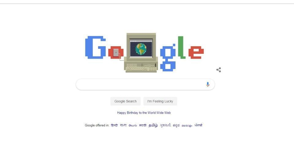 World Wide Web Google Logo For 30th Anniversary