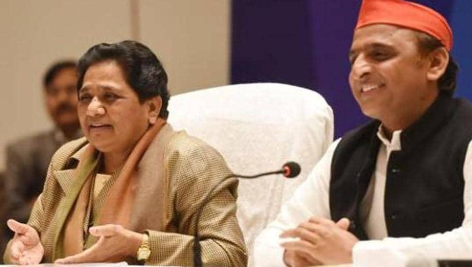 Bahujan Samaj Party (BSP) chief Mayawati and Samajwadi Party president Akhilesh Yadav