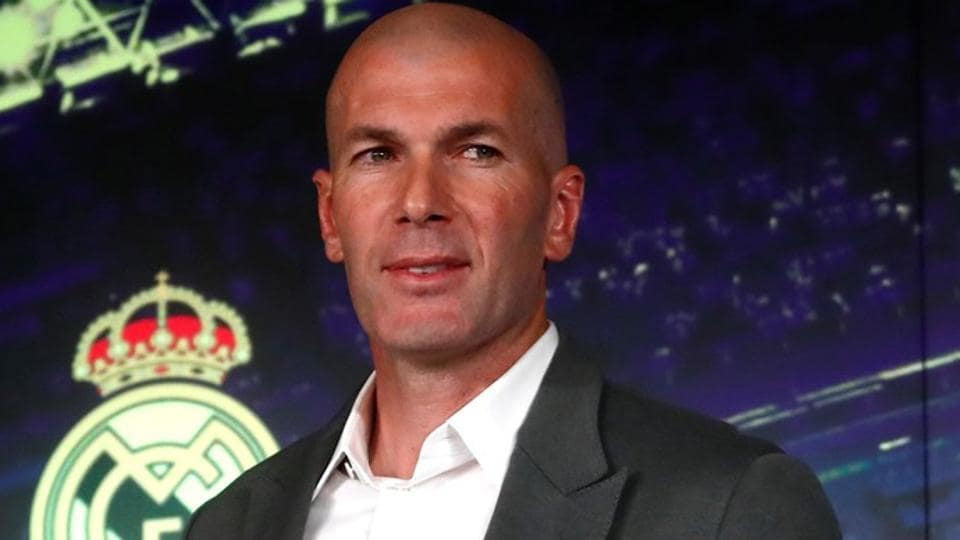 Real Madrid coach Zinedine Zidane after the press conference.