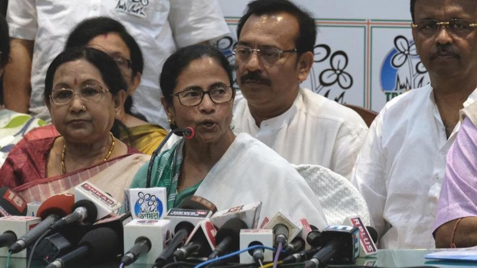 Kolkata (West Bengal), March 12 (ANI): Trinamool Congress Supreme and Chief Minister of West Bengal Mamata Banerjee has listed party candidates for the Lok Sabha election 2019 on the meeting with the senior Trinamool Congress Leaders in Kolkata on Tuesday. (ANI Photo)