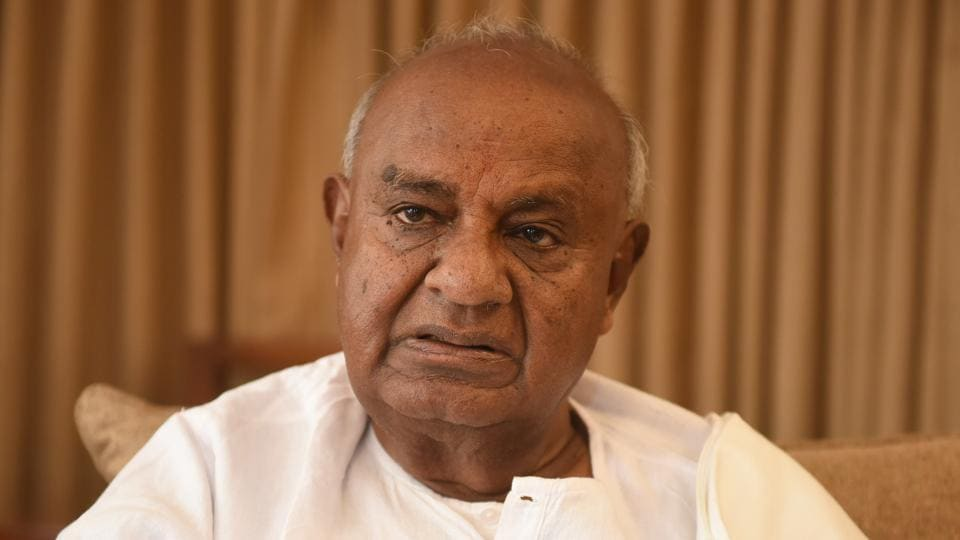 Former prime minister and Janata Dal (Secular) national president HD Deve Gowda on Wednesday broke down at a rally in Hassan district taking exception to the accusations against him of only promoting his family.