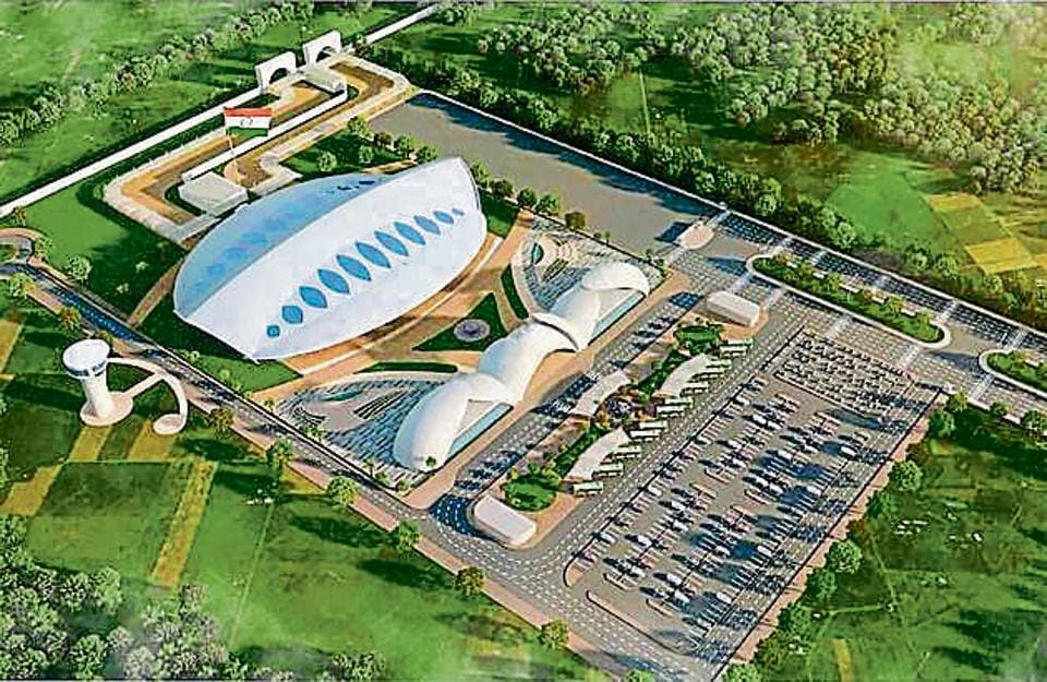 The design of the Rs 190-crore passenger terminal building to be constructed for the Kartarpur corridor in Gurdaspur.