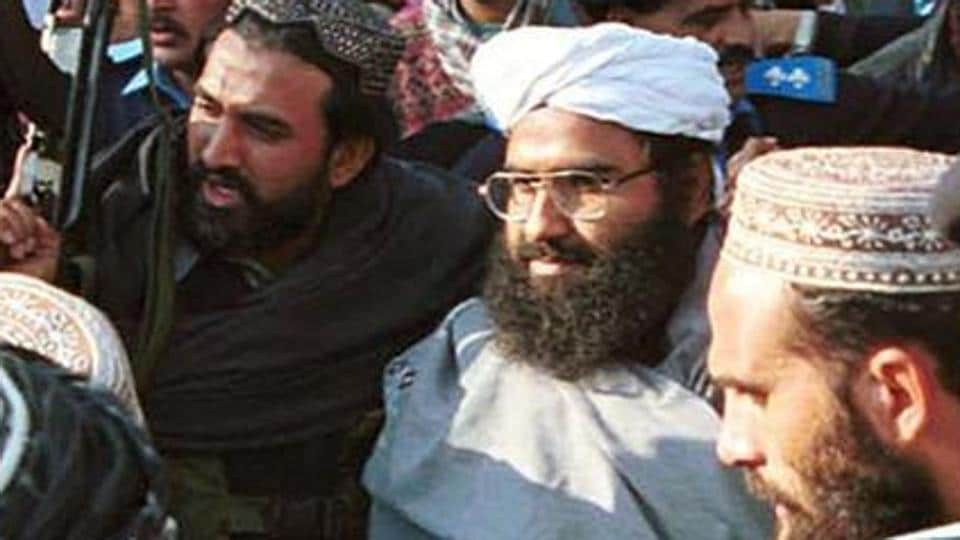 Jaish-e-Mphammad chief Masood Azhar (sporting white turban), if proscribed by the UN, faces global sanctions that require UN member countries to not host, arm or finance him.